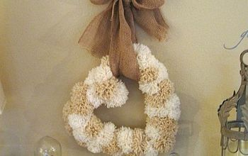 Pom Pom Heart Wreath