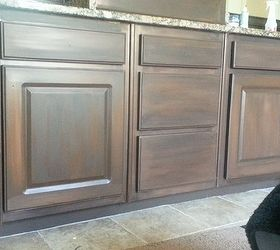 White Cabinets Painted To Look Like Wood, Bathroom Ideas, Kitchen Cabinets,  Painting
