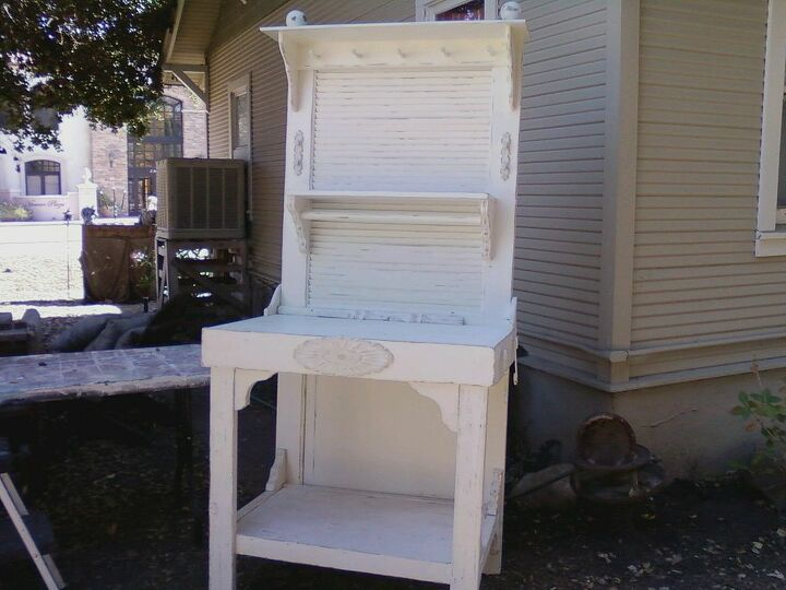 building a potting station, diy, painted furniture, repurposing upcycling, woodworking projects