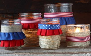 how to make easy diy patriotic luminaries, crafts, patriotic decor ideas, seasonal holiday decor, My Patriotic Luminaries glow so pretty
