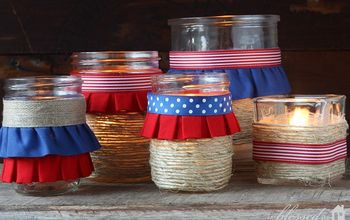 How to Make Easy DIY Patriotic Luminaries