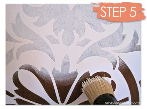 Painting a vinyl masking stencil from our Modello Designs collection is as easy as stenciling a mylar stencil pattern. http://www.royaldesignstudio.com/blogs/how-to-stencil/7499452-transform-a-chest-with-chalk-paint-furniture-stencils