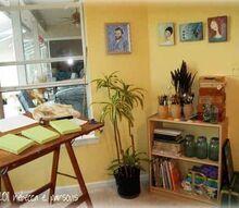 studio redo reveal, craft rooms, home decor, painting