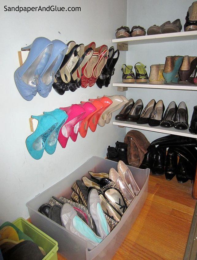 built in shoe organization, closet, organizing, shelving ideas