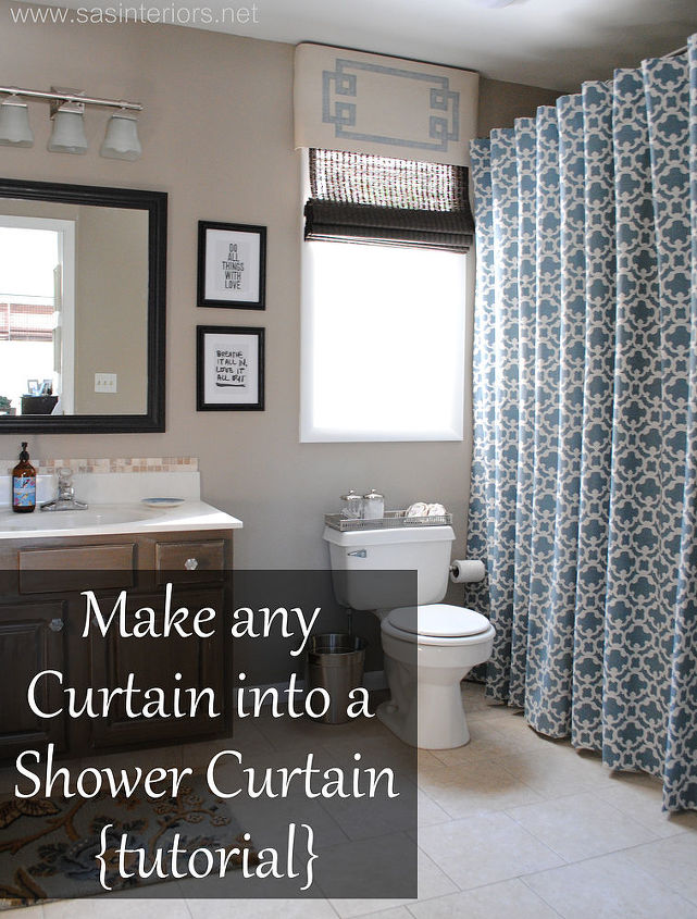 Make any curtain into a shower curtain