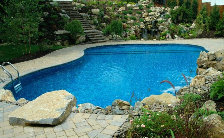 when an outdoor oasis includes more than a pool, decks, landscape, outdoor living, patio, perennial, ponds water features, pool designs, Destination Backyard Pools