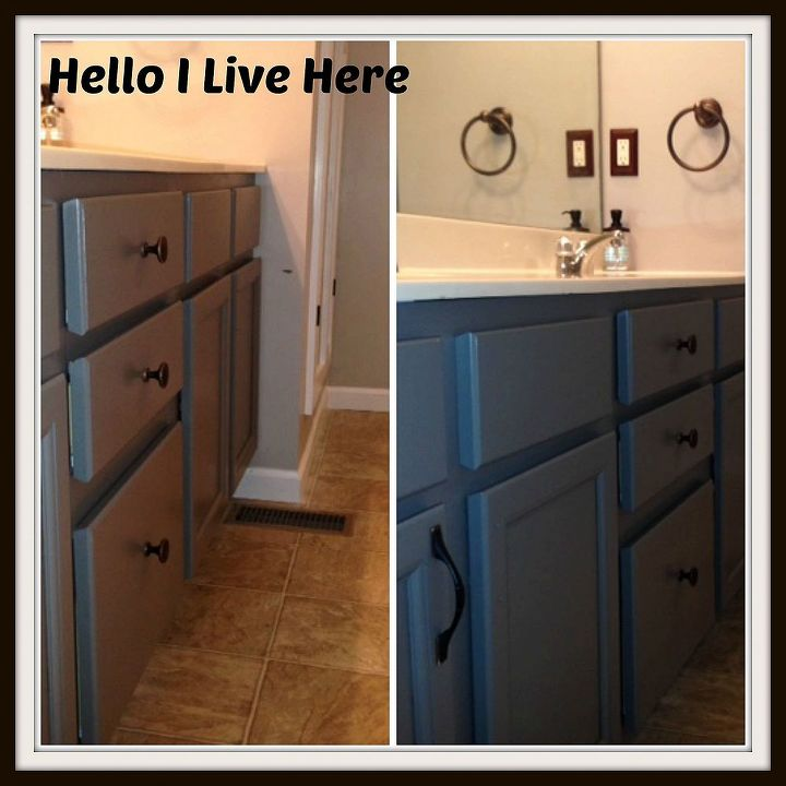 Updating a Bathroom Vanity - Finished product - Hello I Live Here