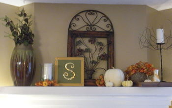 fall mantel, seasonal holiday decor, Fall Mantel
