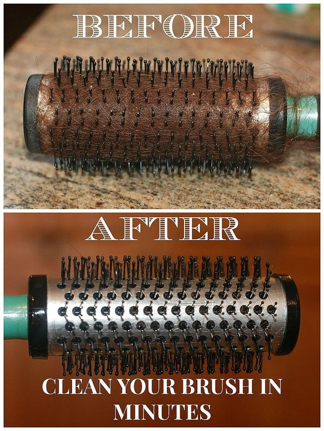 clean your hair brush in minutes, cleaning tips