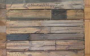 diy faux pallet headboard, garages, pallet, Pine boards pallet look