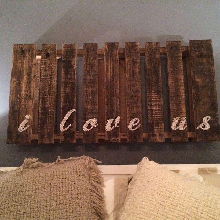 diy love pallet string art, crafts, pallet, repurposing upcycling