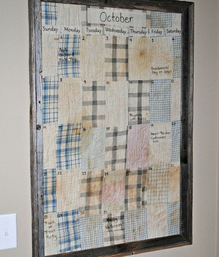 quilt calendar, crafts, repurposing upcycling