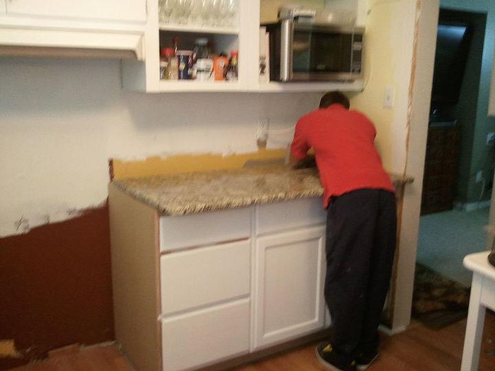 kitchen before and after, home improvement, kitchen backsplash, kitchen design