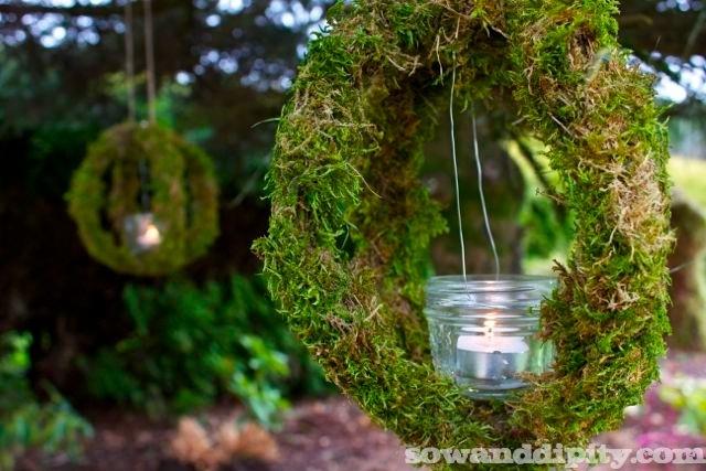 Suspend a jam jar inside the orb for a tea light.