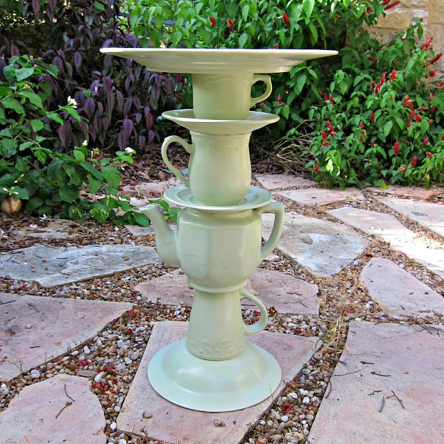 Diy Cake Stand With Tea Pot