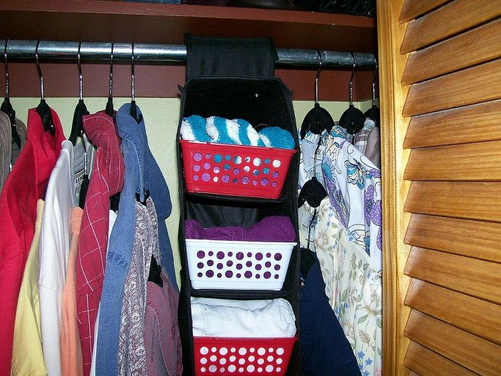 make the most out of a small closet, cleaning tips, closet, urban living, Tight for two but possible
