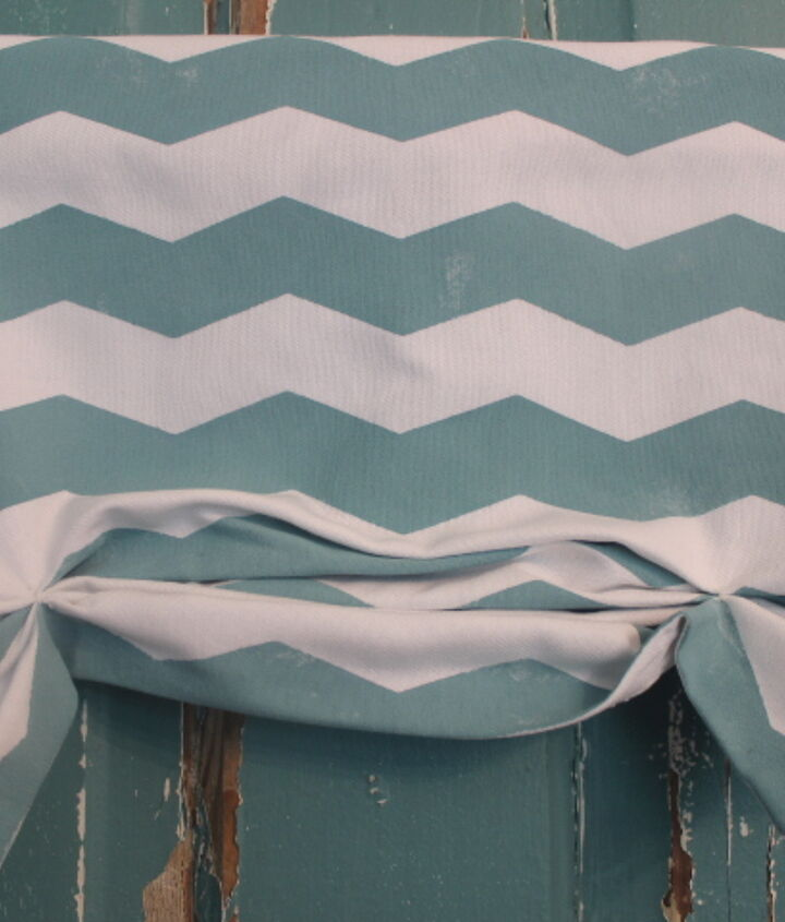 Stop by my blog and see how I used my Handmade Chevron Fabric to create this No-Sew {faux} Roman Shade.