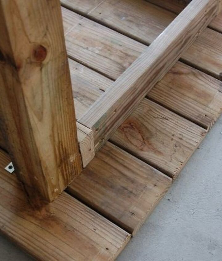 diy outdoor table from reclaimed decking, diy, how to, outdoor furniture, painted furniture, woodworking projects