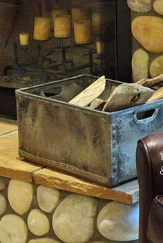 ideas for upcycled home decor, home decor, repurposing upcycling, An old crate works great for holding wood