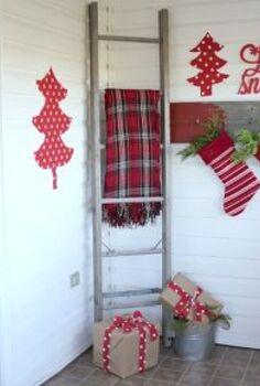 my red christmas mud room, christmas decorations, laundry rooms, seasonal holiday decor, My Red Christmas Mud Room