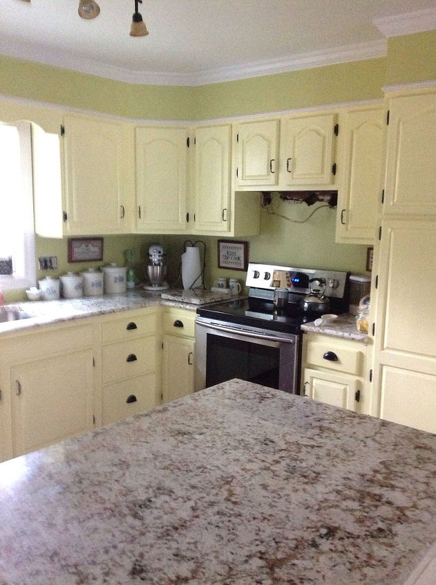 the reveal of the kitchen color and dining room, dining room ideas, kitchen backsplash, kitchen design, kitchen island, painting, the before picture