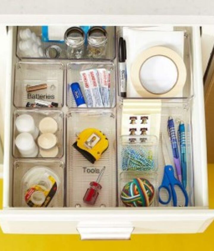 Here's your goal! An organized junk drawer where everything is easily found & easily accessed.