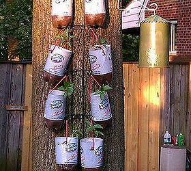 Attrayant Homemade Topsy Turvy Bags Hanging Plastic Bottle Planters, Container  Gardening, Crafts, Gardening,