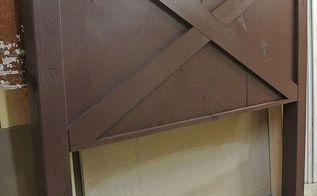distressed barn door style headboard by vintage headboards, painted furniture