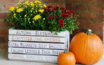 Autumn DIY Word Art Crate