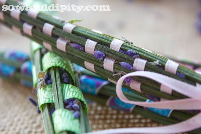 Lavender wands are perfect for tucking in drawers to scent linens: http://www.sowanddipity.com/lavender-wands/