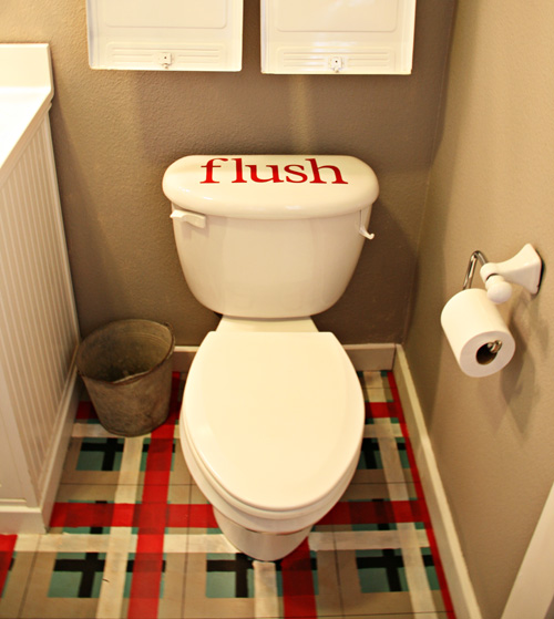 Will this reminder help these boys remember to FLUSH?!