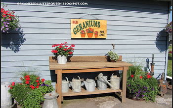 My Potting Bench, Watering Can Collection & Pumps