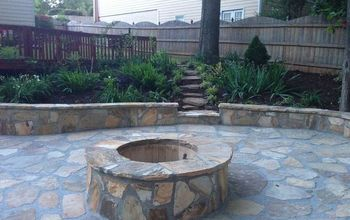 Fire Pit and Landscaping
