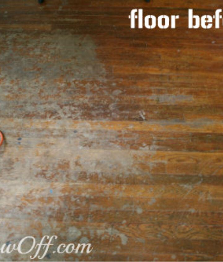 Hardwood floor before.