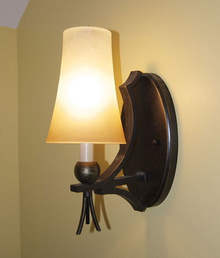 Sconce before- Modern and out of place