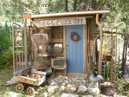 The Eclectic Eggporeum was featured here; http://www.hometalk.com/1986905/the-eclectic-eggporeum-junk-gardening-at-it-s-finest
