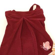design a bag out of a skirt tutorial