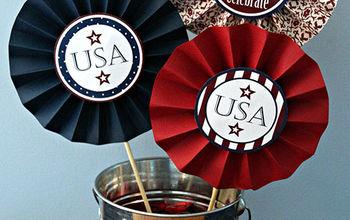 patriotic party medallions, crafts, patriotic decor ideas, seasonal holiday decor