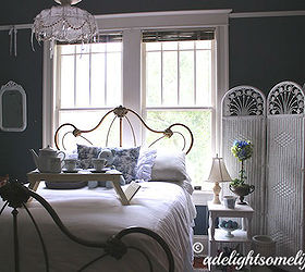 Vintage Cast Iron Bed, Bedroom Ideas, Home Decor, Painted Furniture