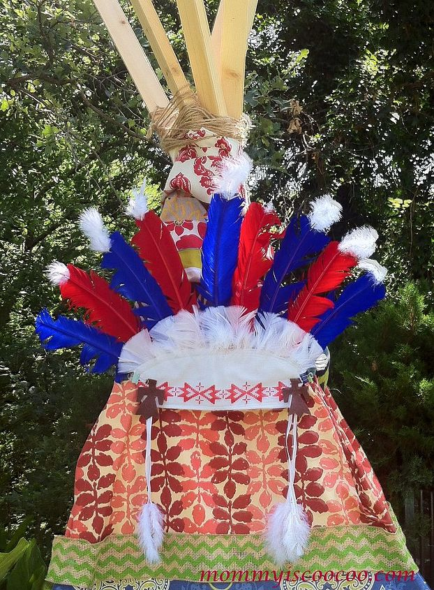 A head-dress - a teepee must have for my little Native Americans!