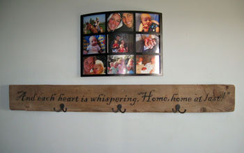 A step by step DIY barn wood welcome sign