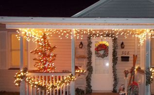 christmas porch, curb appeal, porches, seasonal holiday decor, Christmas Front Porch
