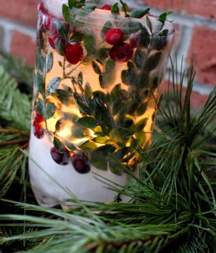 winter ice lanterns, crafts