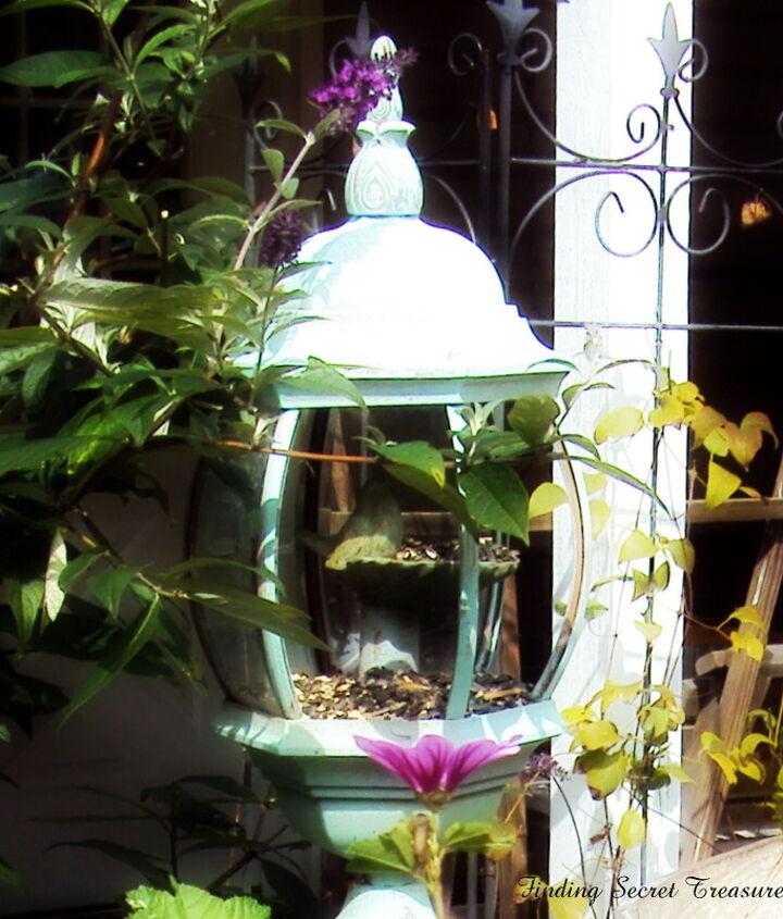 repurpose an old light fixture, gardening, repurposing upcycling