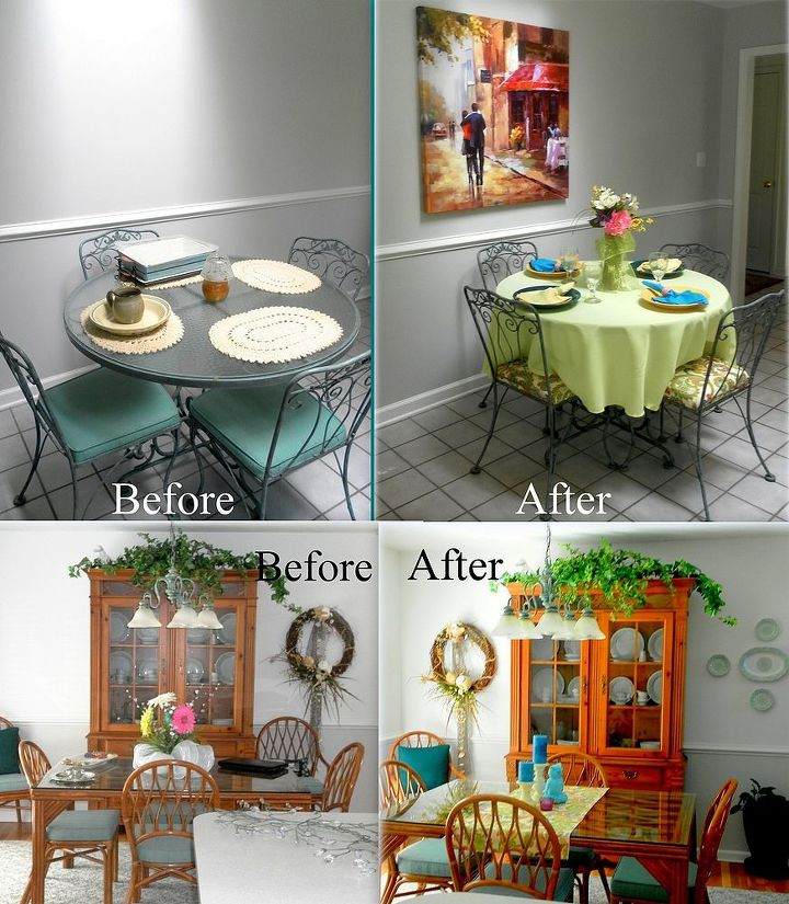 simple decorating adding color to a kitchen, home decor, kitchen design, Before and After Kitchen Makeover