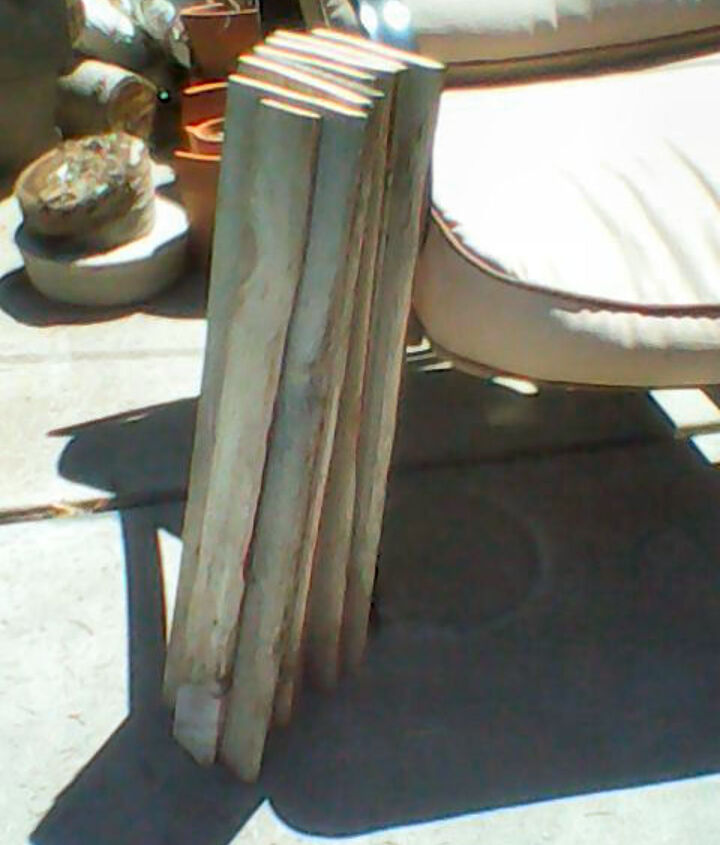 Old fence boards cut to size