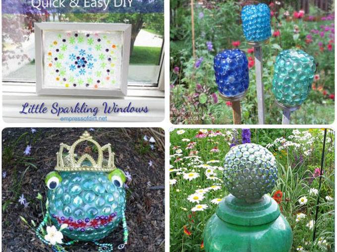 garden art and craft projects with glass gems flat marbles, crafts, gardening, Come to the blog to see all 19 projects and instructions