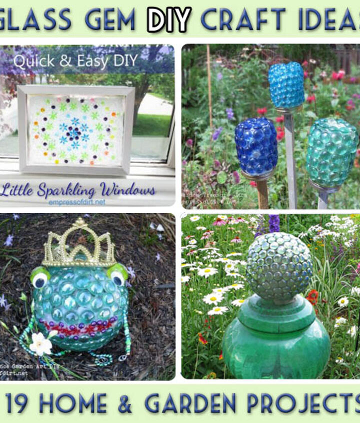 Garden Art And Craft Projects With Glass Gems Flat Marbles Hometalk
