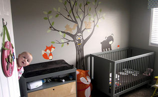woodland themed nursery, bedroom ideas, home decor, Woodland Themed Nursery