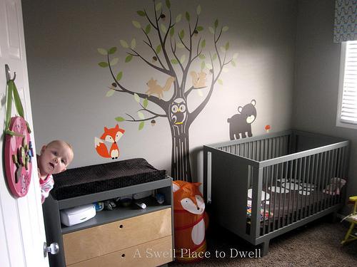 woodland themed nursery, bedroom ideas, home decor, Woodland Themed Nursery